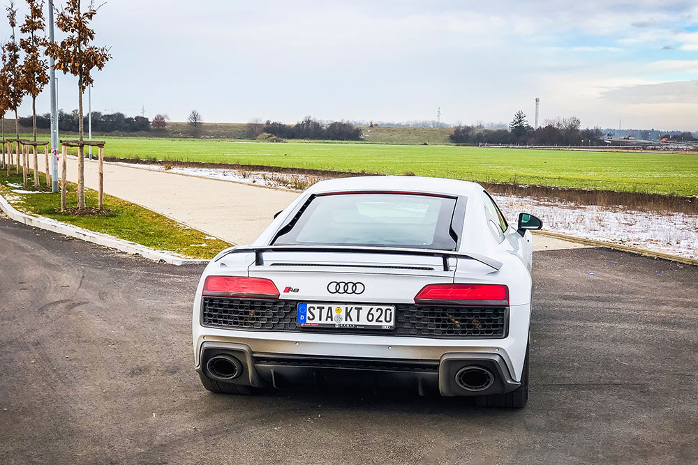 Audi R8 V10 Heckansicht
